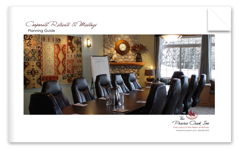 Download the Corporate Retreats and Meetings Planning Guide for The Prairie Creek Inn