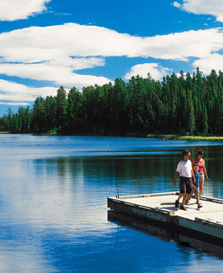 Crimsion Lake in Central Alberta 15 min drive from The Prairie Creek Inn
