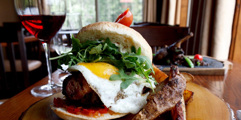 Elk Burger | Heartstone Restaurant at The Prairie Creek Inn