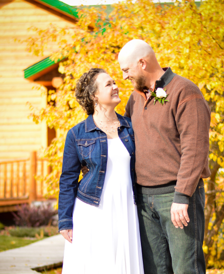 Justin Chadney Photography Elopement Couple ~ The Prairie Creek Inn