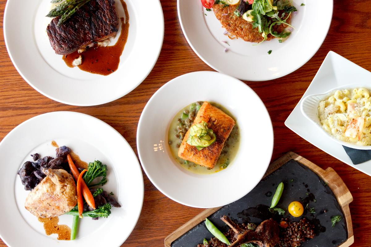 Entrees at Hearthstone Restaurant at The Prairie Creek Inn