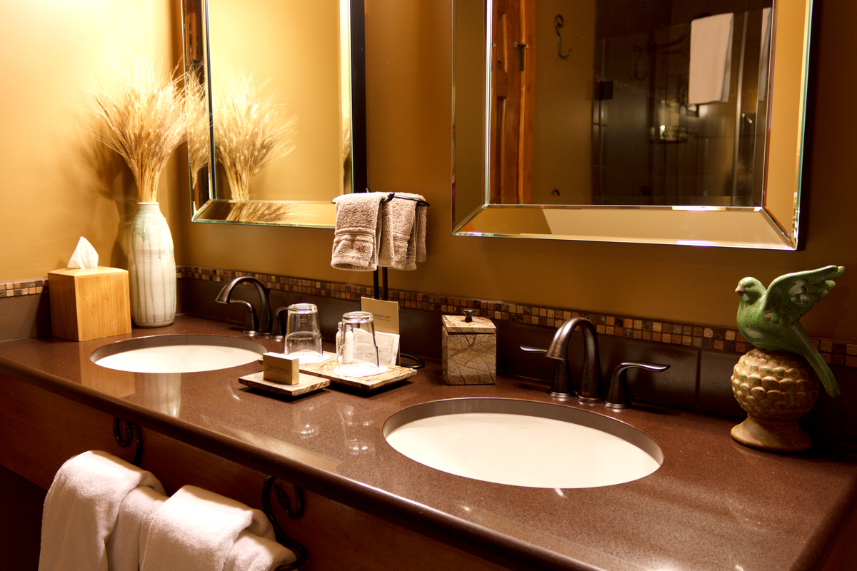 Golden Meadows Double Vanity | The Prairie Creek Inn