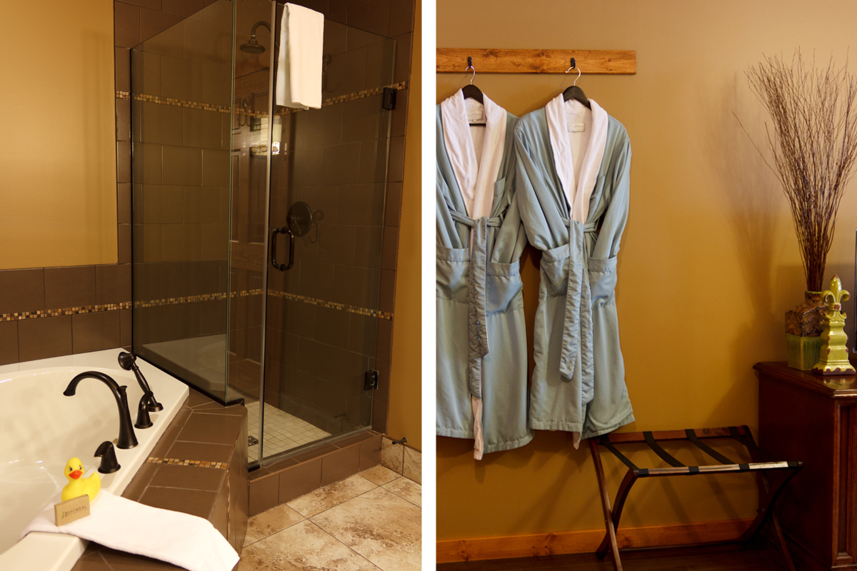 Golden Meadows Shower Bathrobes | The Prairie Creek Inn