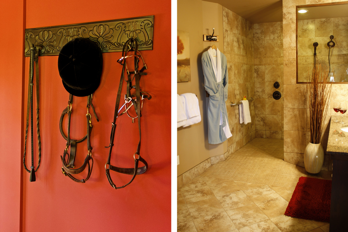 Stables Bathroom | The Prairie Creek Inn