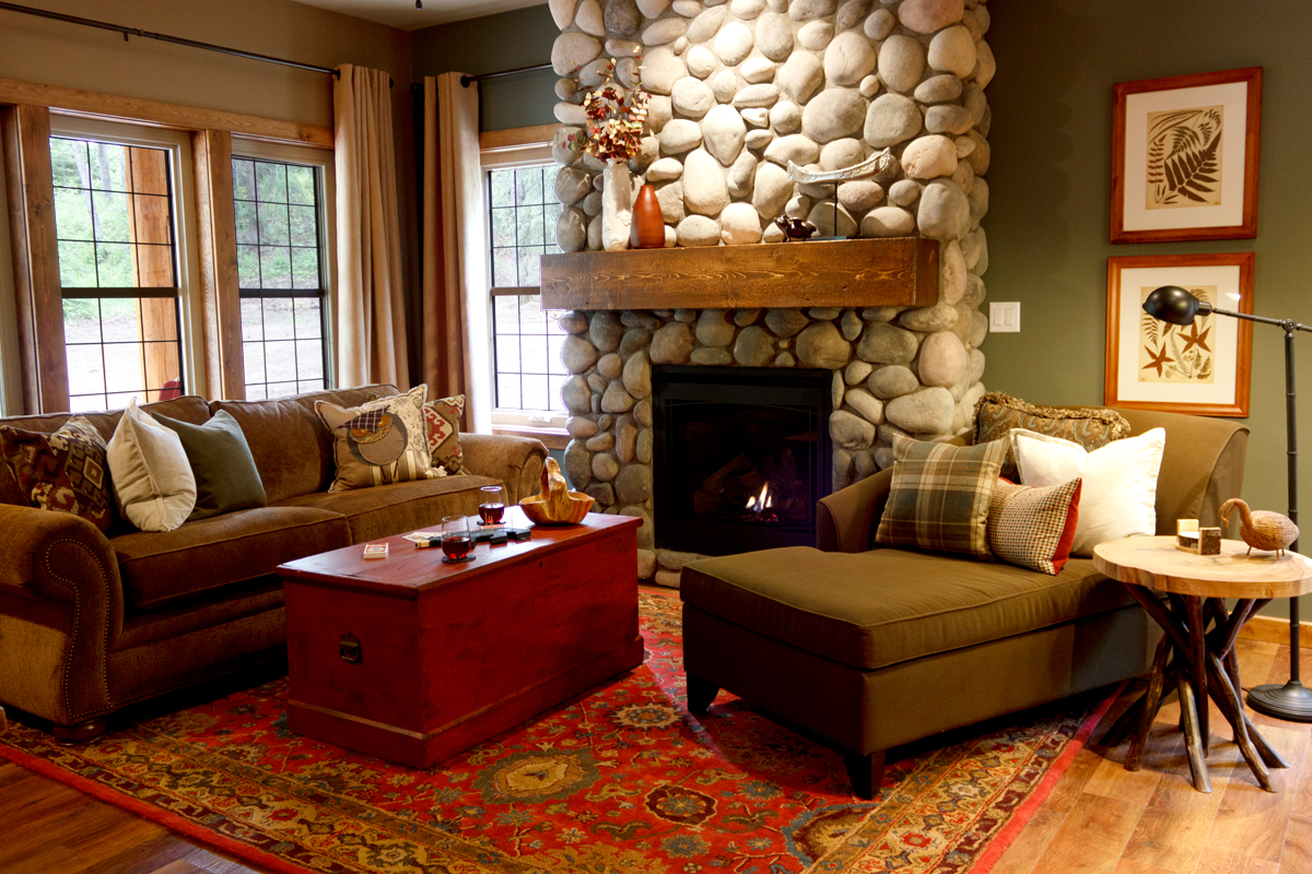 Brichside Living Room | The Prairie Creek Inn